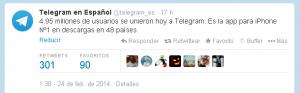 Telegram millones usuarios